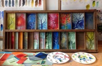 trees print tray